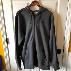 Adidas Big & Tall dark heather gray zip up jacket